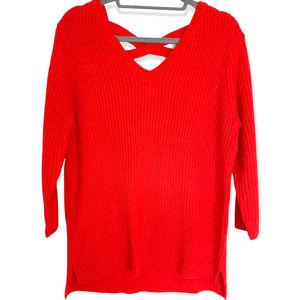 Knitwear by F&F Sweater with Crisscross Back